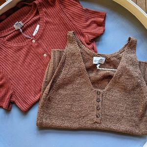 Brand New women's top lot brown/rust A New Day